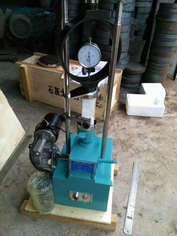 手动电动石灰土压力试验机、无侧限压力试验仪实物图